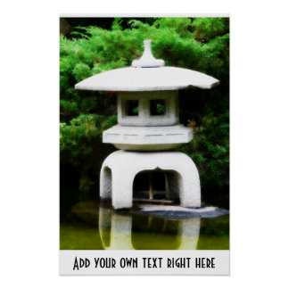Japanese Style Statue Ornament Poster
