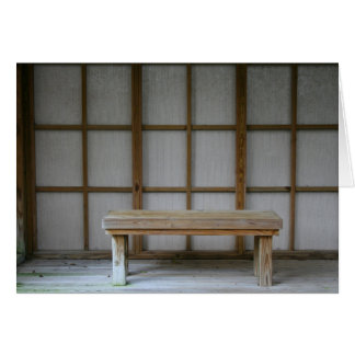 Japanese style tea house bench card