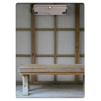 Japanese style tea house bench clipboard
