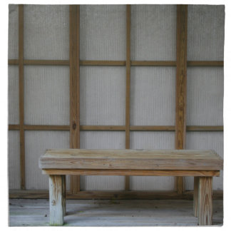 Japanese style tea house bench napkin