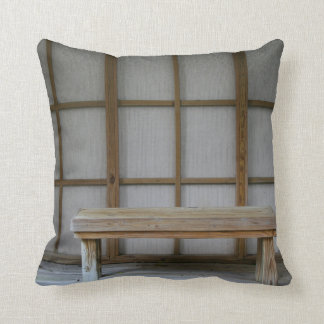 Japanese style tea house bench throw pillow