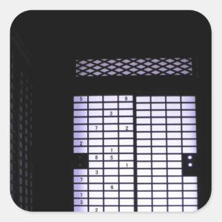 Japanese Sudoku Paper Window Square Sticker