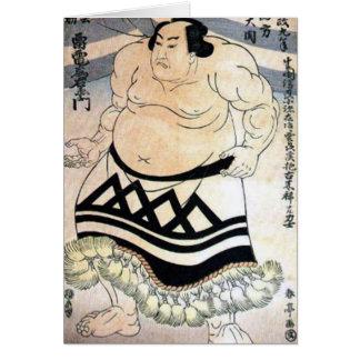Japanese sumo-wrestler card