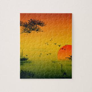 Japanese Sunset Jigsaw Puzzle