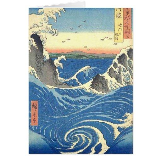 Japanese Surf Card Greeting Cards