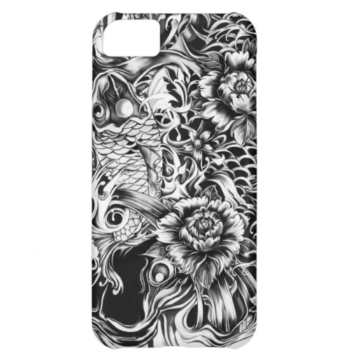Japanese surf tattoo art from hand illustration. iPhone 5C cover