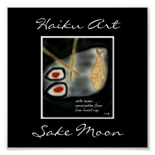 Japanese Sushi Haiku Art Print