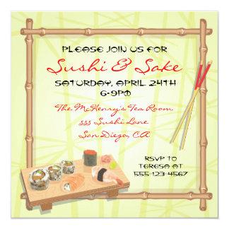 Japanese Sushi party invitations