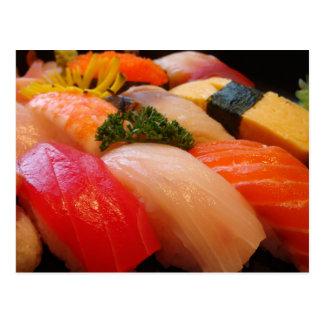 Japanese sushi roll sashimi hipster Japan photo Postcard