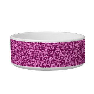 Japanese swirl pattern - burgundy and pale pink bowl