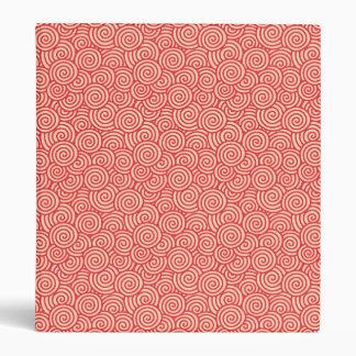 Japanese swirl pattern - coral orange binders
