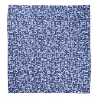 Japanese swirl pattern - navy blue and white bandana