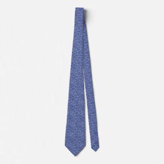 Japanese swirl pattern - navy blue and white tie
