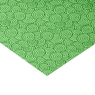"""Japanese swirl pattern - pine and lime green 10"""" x 15"""" tissue paper"""