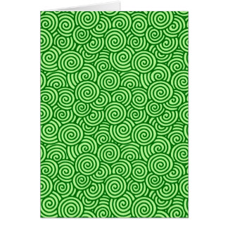 Japanese swirl pattern - pine and lime green card