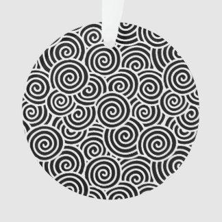 Japanese swirl pattern - white and black ornament