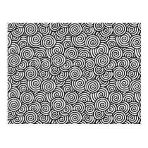 Japanese swirl pattern - white and black postcard