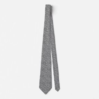 Japanese swirl pattern - white and black tie