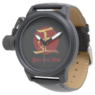 Japanese Symbol: King Personalized Wristwatch