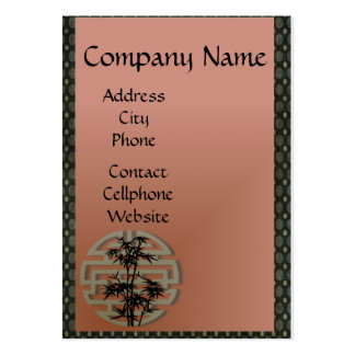 Japanese Symbol with Bonsai on Russet Large Business Cards (Pack Of 100)