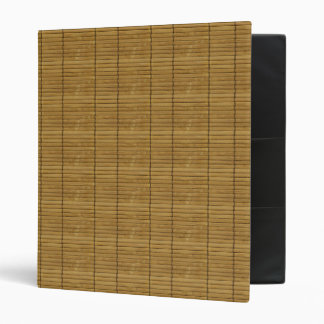 Japanese Tatami Mat, Bamboo Planks - Brown 3 Ring Binder