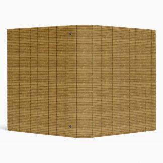 Japanese Tatami Mat, Bamboo Planks - Brown Vinyl Binder