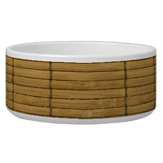 Japanese Tatami Mat, Bamboo Planks - Brown Bowl