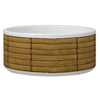 Japanese Tatami Mat, Bamboo Planks - Brown Bowl