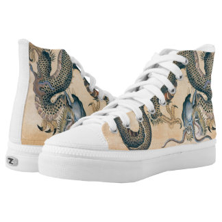 Japanese Tattoo Art Dragon High-Top Sneakers
