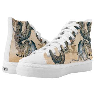 Japanese Tattoo Art Dragon High-Top Sneakers