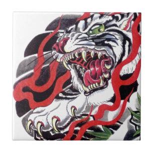 46c73bc61b8c0 Japanese Tattoo Design Decorative Ceramic Tiles | Zazzle