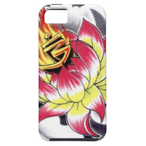 Japanese Tattoo Style Flaming Lotus Flower iPhone 5 Case