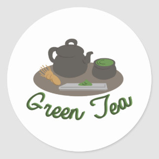Japanese Tea Ceremony Gree Classic Round Sticker