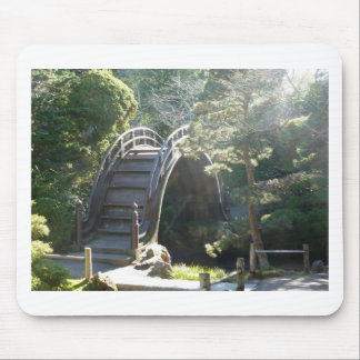 Japanese Tea Garden Bridge Mouse Pad