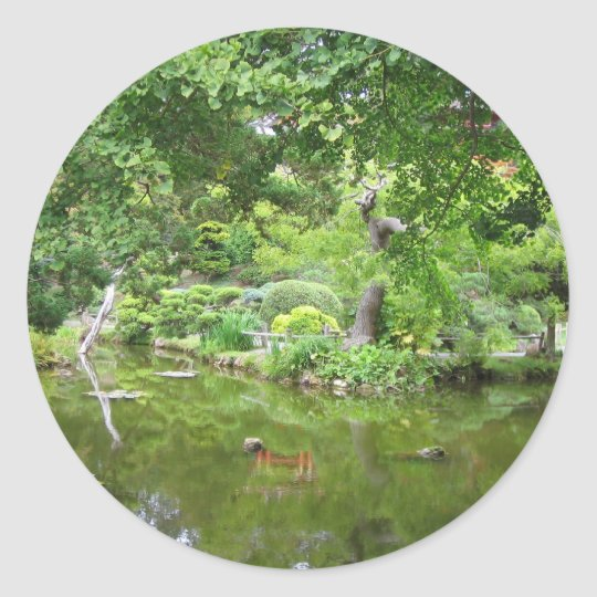 Japanese Tea Garden Classic Round Sticker