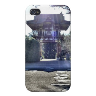 Japanese Tea Garden Gateway Cases For iPhone 4