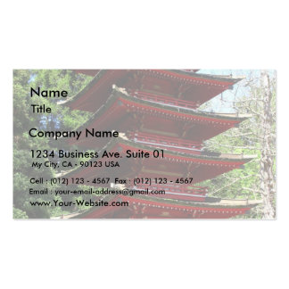 Japanese Tea Garden In Golden Gate Park In San Fra Business Card Templates