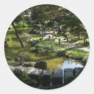 Japanese Tea Garden In Golden Gate Park Round Sticker