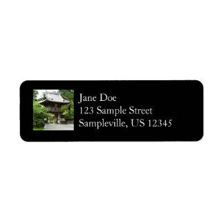 Japanese Tea Garden in San Francisco Label