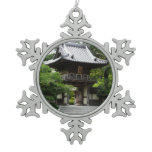 Japanese Tea Garden in San Francisco Snowflake Pewter Christmas Ornament