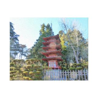 Japanese Tea Garden Pagoda Canvas Print
