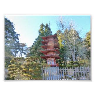 Japanese Tea Garden Pagoda Photographic Print