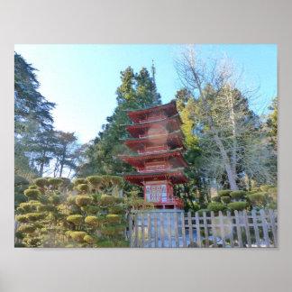 Japanese Tea Garden Pagoda Print