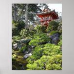 Japanese Tea Garden Pagoda - San Francisco Posters