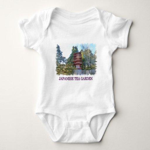 Japanese Tea Garden Pagoda T Shirts