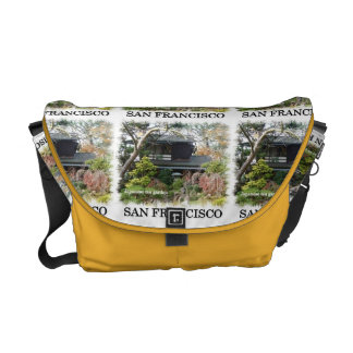 Japanese Tea Garden Rickshaw Messenger Bag