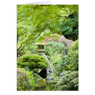 """""""Japanese Tea Garden Scene"""" Card"""
