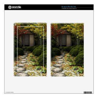 Japanese Tea House and Garden in Autumn Skins For Kindle Fire
