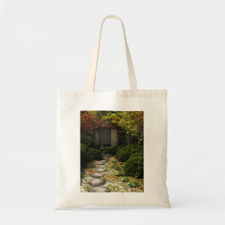Japanese Tea House and Garden in Autumn Tote Bag