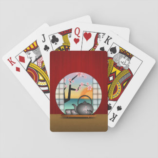 Japanese Tea Room Classic Custom Playing Cards